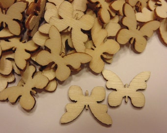 8 wooden butterflys, 16 x 18 mm (A1)