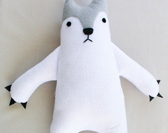 North Pole Winter White Polar Bear Stuffed Animal