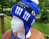 Tardis Ear Flap Hat