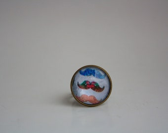Multicolored Moustache Adjustable Ring