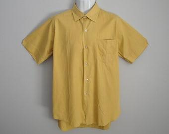 Vintage 1950s 50s Men's Cotton Shirt
