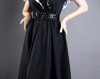 Black & White Ruffled Top Dress