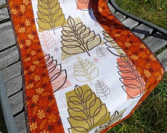 Table Runner Autumn Leaves Fall Harvest