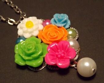Neon Garden Inspired Necklace