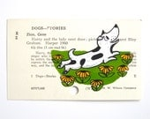 Harry the Dirty Dog Library Card Art - Print of my painting of Harry the Dirty Dog on library card catalog card