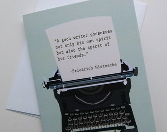 SALE! Typewriter Card