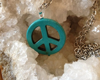 Peace sign necklaces by Rockin' Crystals