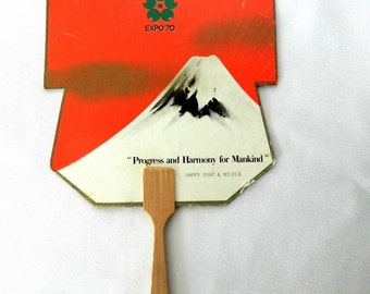 Montreal Expo 1967 Japan promotion fan for Osaka 1970
