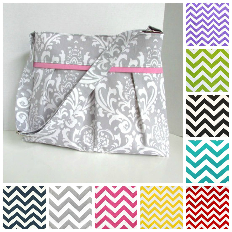 chevron diaper bag medium design your own boy or girl. Black Bedroom Furniture Sets. Home Design Ideas