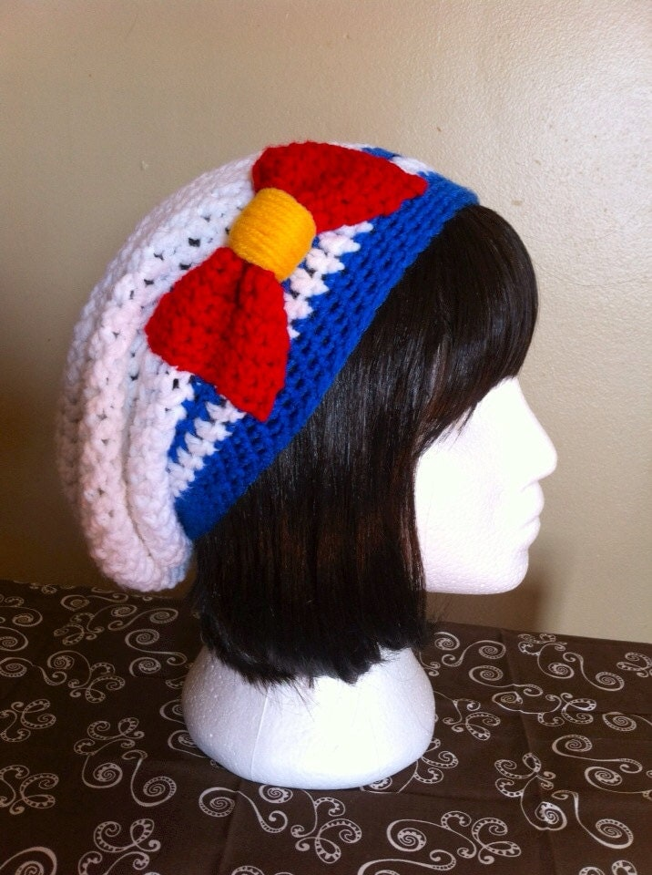 Free Crochet Pattern For Sailor Hat : Sailor Moon/Scout Inspired Slouchy Hat