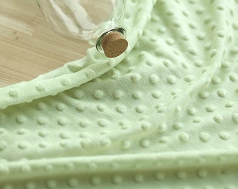 Minky Dimple Dot - Lime Green - K Series - By the Yard 49286
