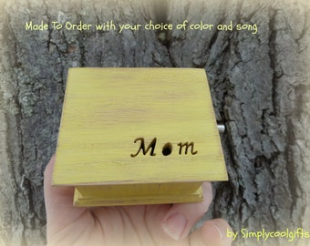 music box, gift for Mom, musical box, music boxes, wooden music box, custom music box, musicbox, Mother's Day gift, simplycoolgifts