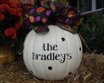 Pumpkin Decals, Pumpkin Stickers, Fall Decor, Front Porch Decor, Pumpkin Monogram, Pumpkin Wedding, Fake Pumpkin Decal, Fake Pumpkin Sticker