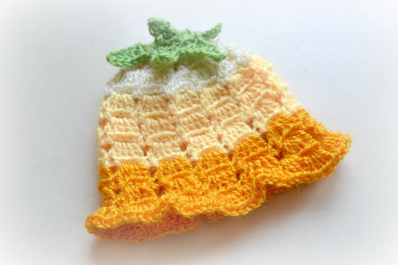 Items similar to Crochet baby girl hat pattern, crochet ...