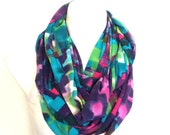 Paint Splash Colorful Abstract Infinity Scarf, Teen, Women Fashion Scarf