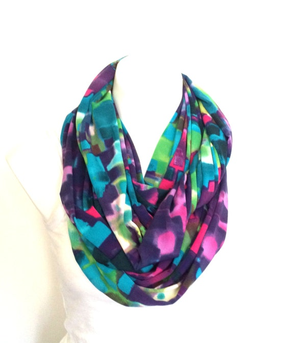 paint splash colorful abstract infinity scarf by