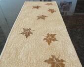 Bronzed Leaves Table Runner