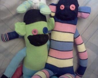 SALE  Sock monkey family bundle