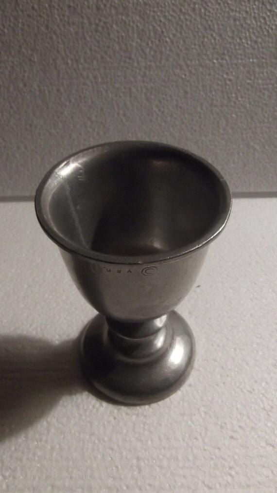 Vintage pewter cup