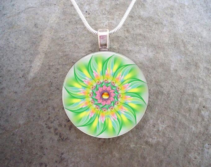 Mandala Jewelry - Glass Pendant Necklace - Mandala 24 - RETIRING 2017
