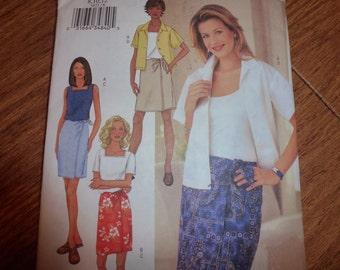 Butterick 3471 Misses' Shirt  Skirt  and Skort Pattern  Sizes 8  10  12