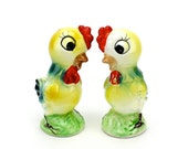 Vintage Rooster Salt and Pepper Shakers, Unique, Roosters, Chickens, Spring Table, Farmhouse, Kitsch, Epsteam