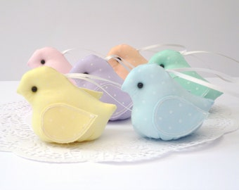 Pastel hanging birds- NEW