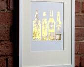 Gold Whiskey Bottles