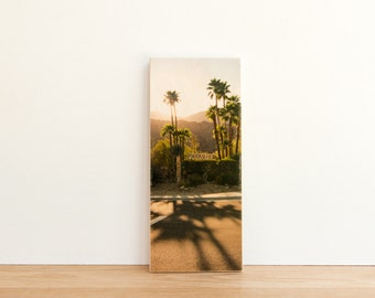 Palm Springs Sunset Photo Transfer Art Block - 'Park View' by Patrick Lajoie Fine Art Photography