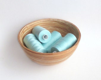 Seafoam sewing thread. Polyester. Coats Moon colour M0225. 1 reel. Pale turquoise