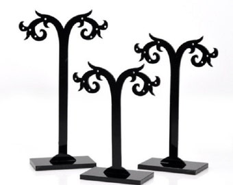 Acrylic Earring Earring Display Stand Holder - 3 pc set-Q68
