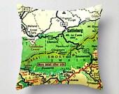Gatlinburg Tennessee Map Pillow |  TN Map Decor | Map Print | City Map art decor | Smoky Mountains National park Sevierville Pigeon Forge