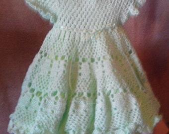 3 to 6 mo fancy crocheted dress
