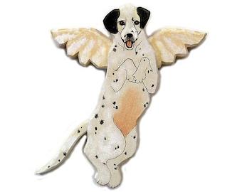 Angel Dog Dalmation Dog Angel Wooden Wall Hanging
