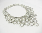 The SophieNecklace - Vintage 1950s Rhinestone Bib Necklace - One Of  A Kind
