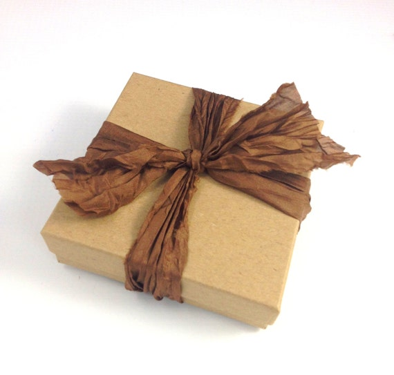 Light Brown Hand Ripped Satin Ribbon 2 5 Yards From