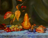 "Fine Art Print of my  Original Oil Painting, Still Life Painting  ""Autumn Fruit"""