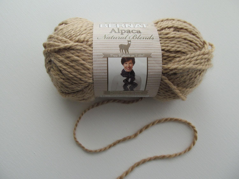 Knitting Gauge Definition : Bernat alpaca chunky knitting yarn natural wheat cream beige