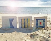 RESERVED Nautical Flags on Repurposed Wood