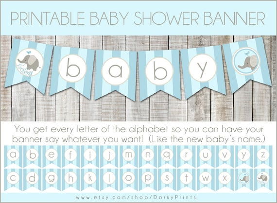 Superb image throughout free printable baby shower banner