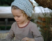 Hand Knit Chunky Cowl, Earwarmer/Headband for Toddler or Child - Winter Blue - Ready To Ship