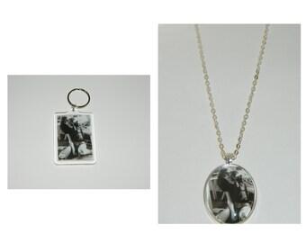 Joey Ramone The Ramones Keychain or Glass pendant Necklace