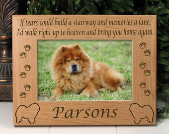 Chow-Chow If Tears Poem Dog Memorial Frame