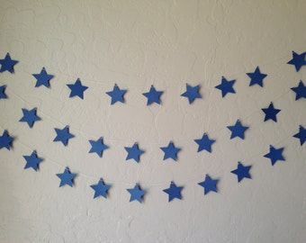 Blue Star Garland/Banner, Party Garland, Party Banner, Wedding Garland, Patriotic Garland