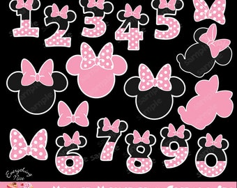 Minnie Mouse Pink Clipart Set