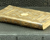 Petite Brown Leather Antique The Book Of Common Prayer Pocket Size Book