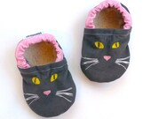 baby cat shoes cat face shoes with cat face baby girl shoes black cat shoes pink and gray soft sole shoes with cats vegan baby shoes cats