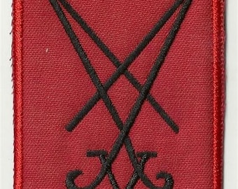 Sigil of Lucifer  - embroidered back patch, BUY3 GET4, 11,2 X 8 INCH