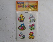 Vintage EASTER Stickers, Dennison Stickers, New in Package