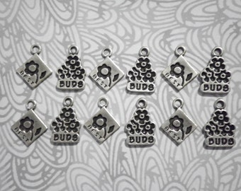 6 Prs. Best Buds Charms
